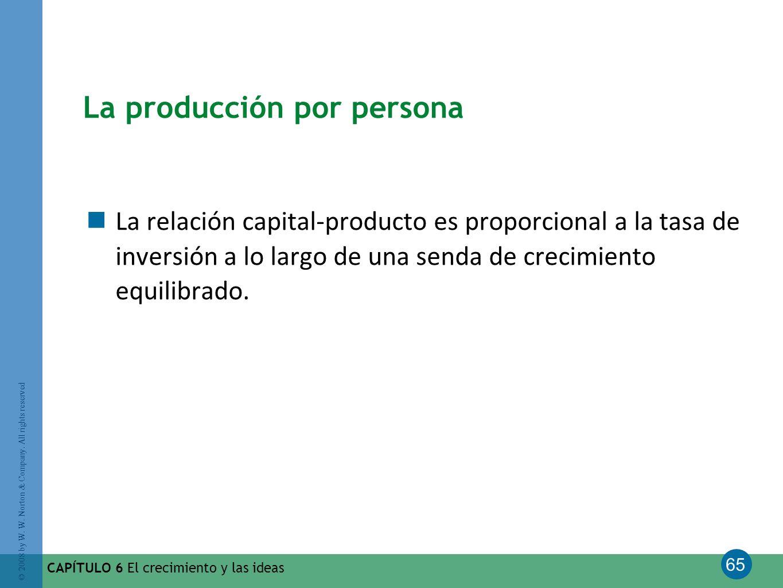 La producción por persona