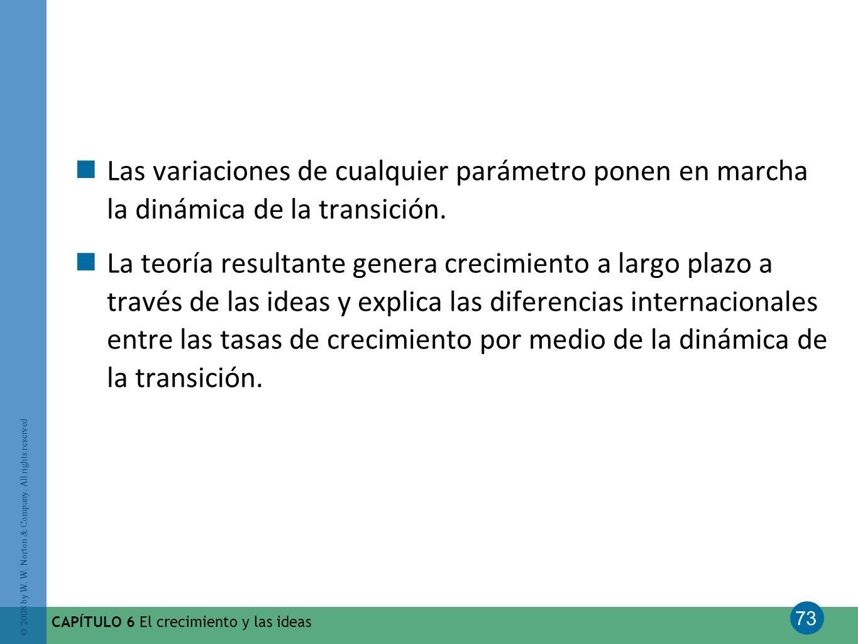 Las variaciones de cualquier parámetro ponen en marcha la dinámica de la transición.