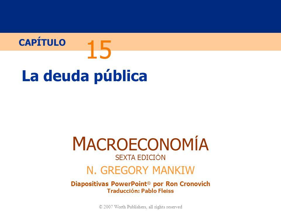 15 La deuda pública.