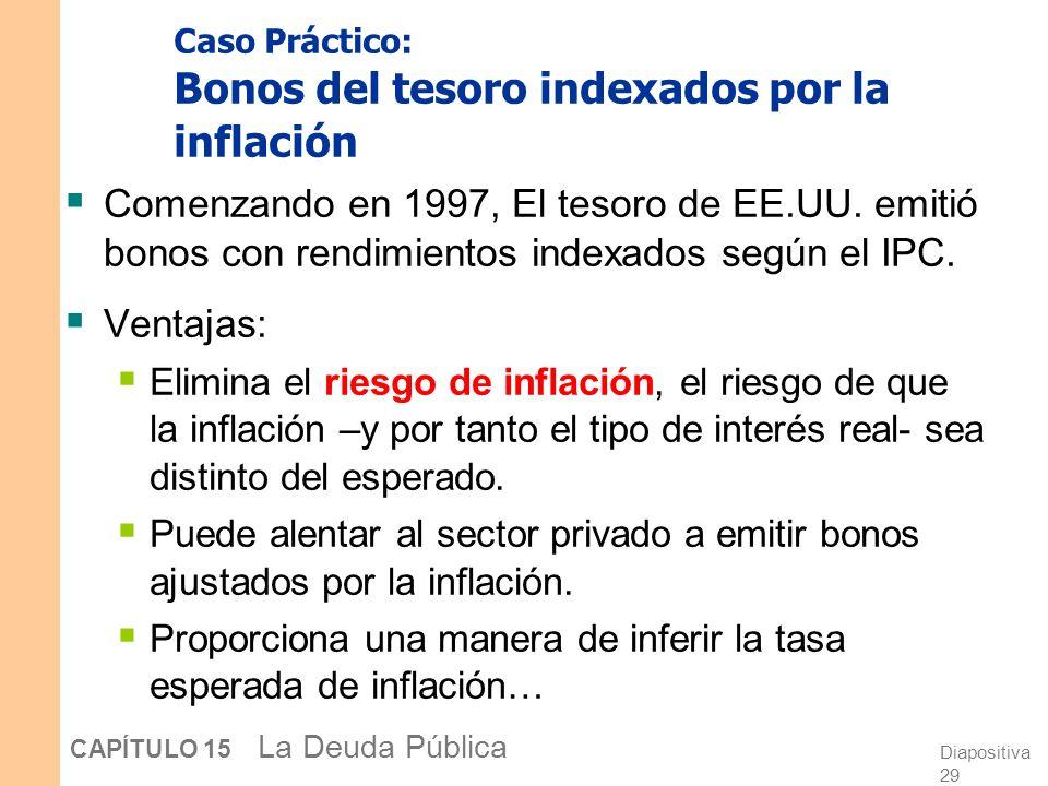 Caso Práctico: Bonos del tesoro indexados por la inflación