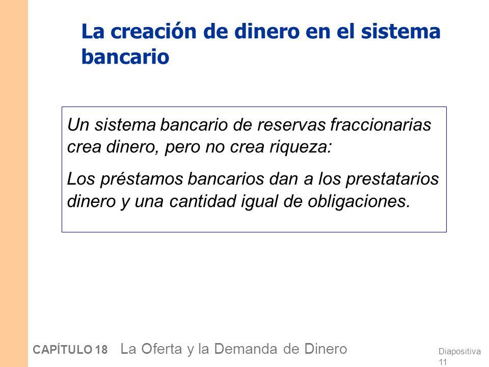 La creación de dinero en el sistema bancario