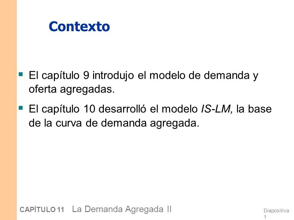 Contexto El capítulo 9 introdujo el modelo de demanda y oferta agregadas.