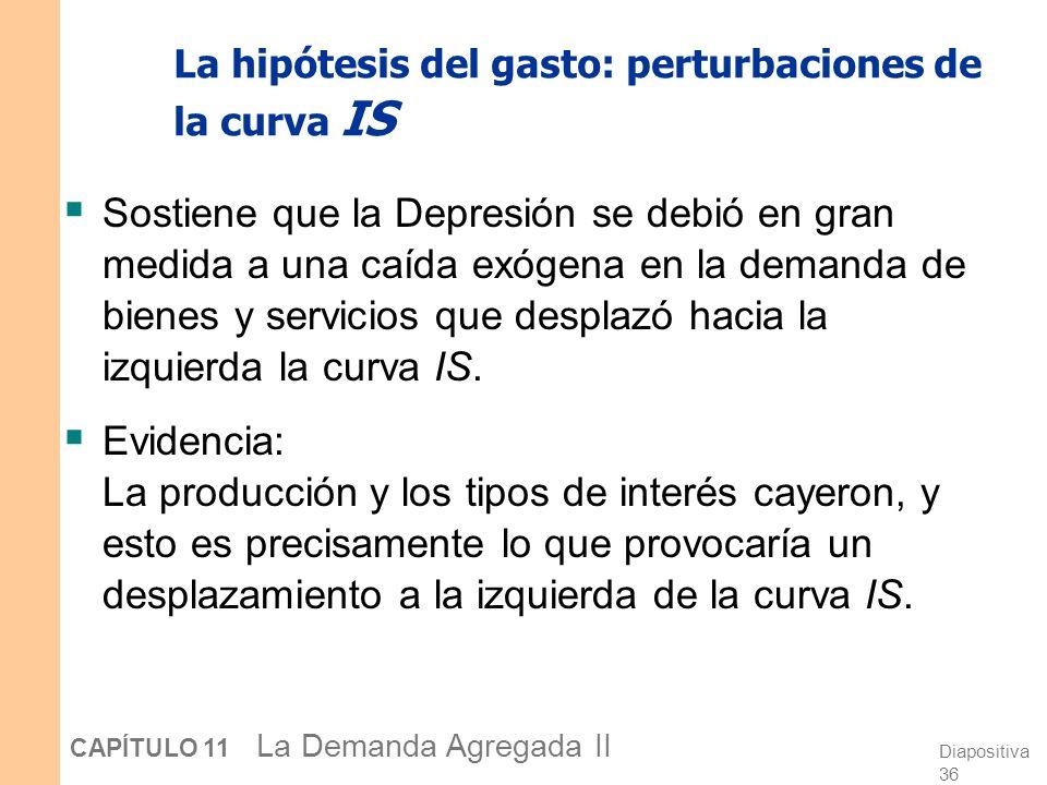 La hipótesis del gasto: perturbaciones de la curva IS