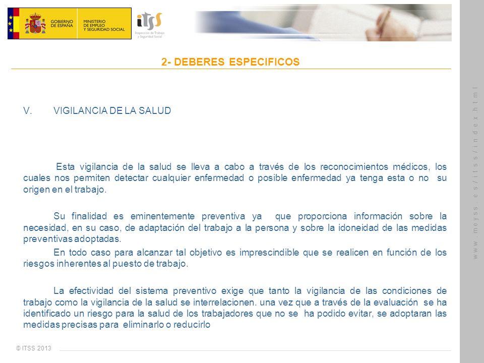 V. VIGILANCIA DE LA SALUD