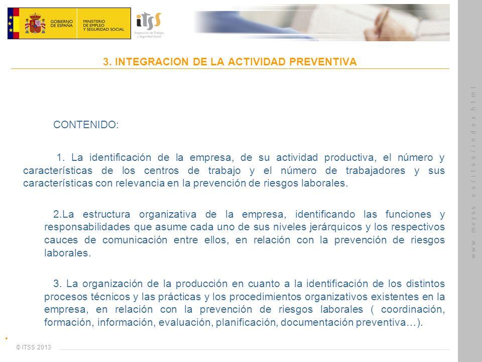 3. INTEGRACION DE LA ACTIVIDAD PREVENTIVA