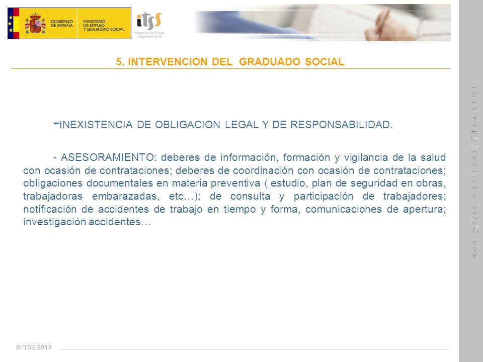 5. INTERVENCION DEL GRADUADO SOCIAL