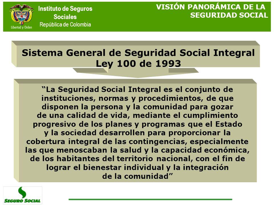 Sistema General de Seguridad Social Integral Ley 100 de 1993