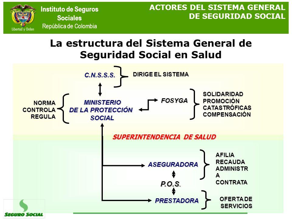 La estructura del Sistema General de Seguridad Social en Salud