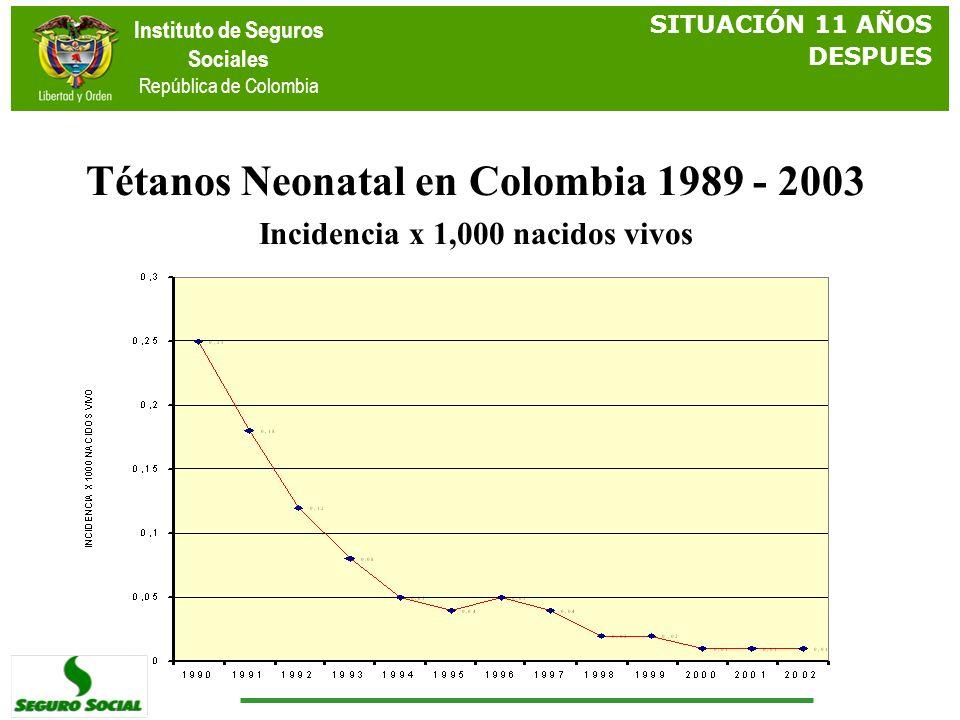 Tétanos Neonatal en Colombia 1989 - 2003
