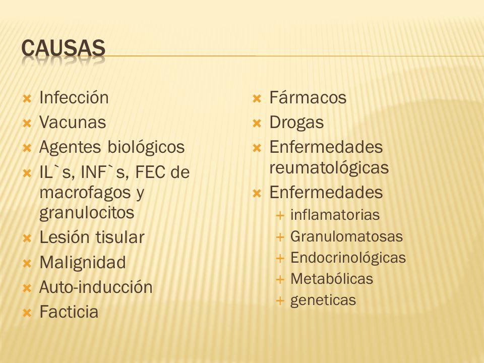 causas Infección Vacunas Agentes biológicos