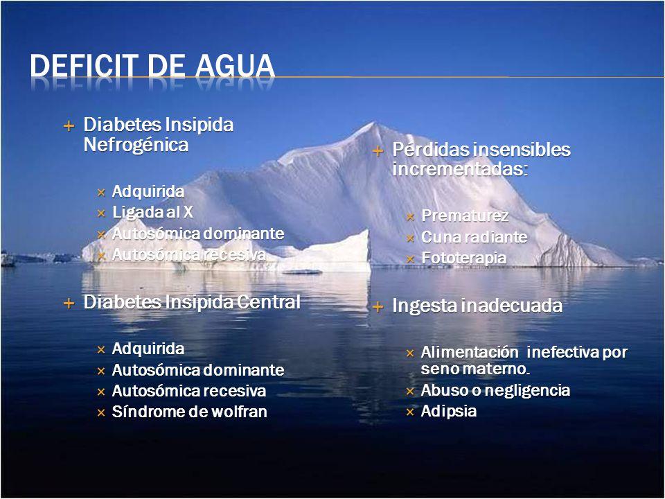Deficit de Agua Diabetes Insipida Nefrogénica