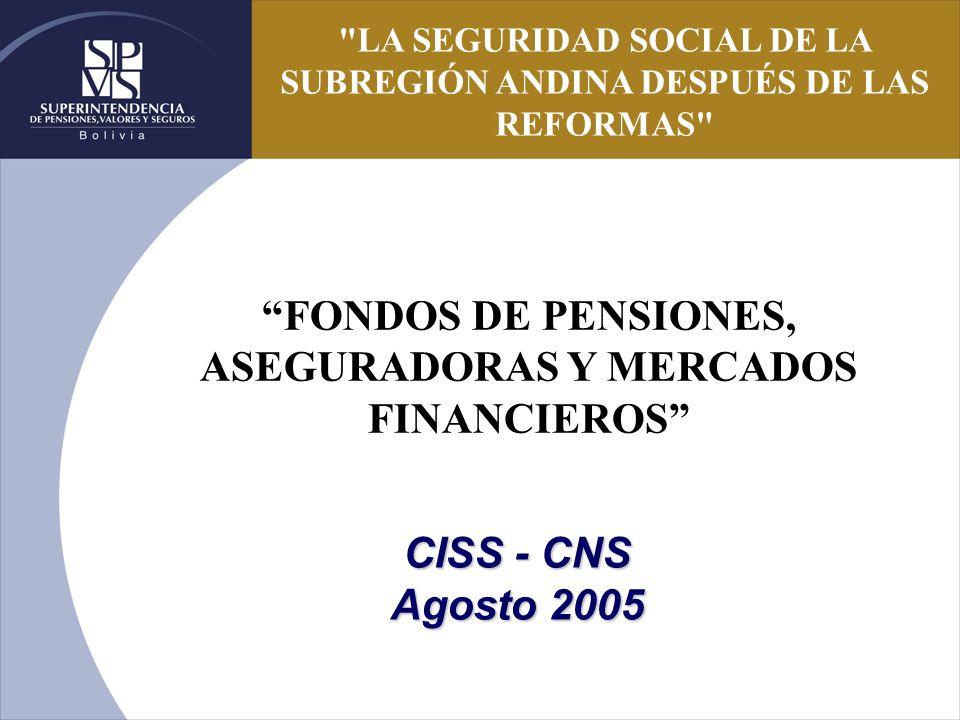 FONDOS DE PENSIONES, ASEGURADORAS Y MERCADOS FINANCIEROS