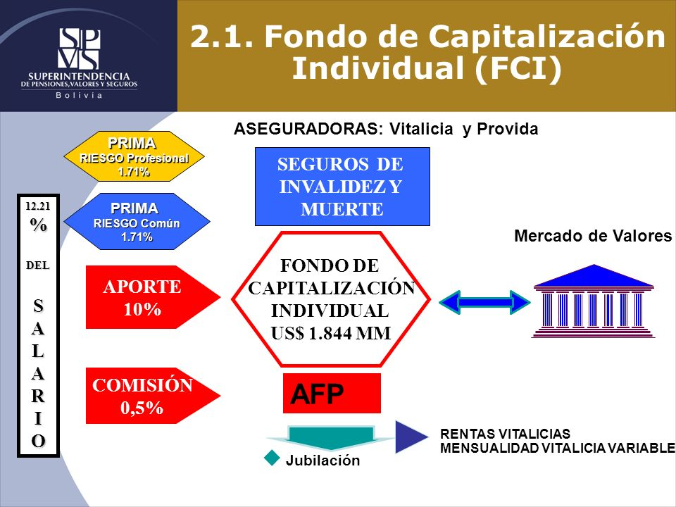 2.1. Fondo de Capitalización Individual (FCI)