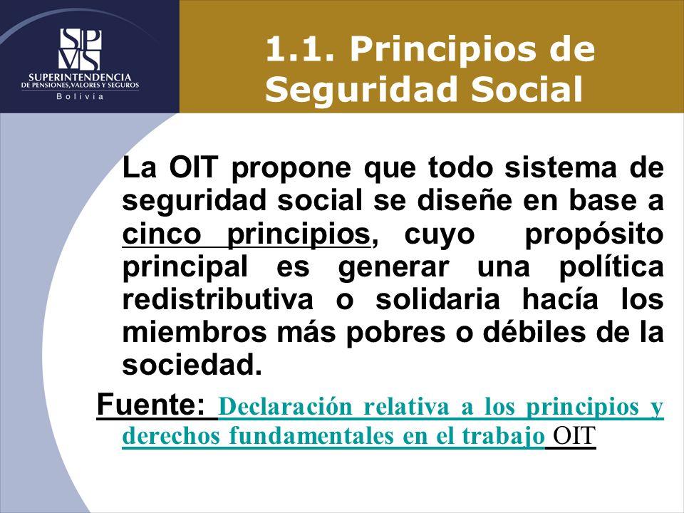 1.1. Principios de Seguridad Social