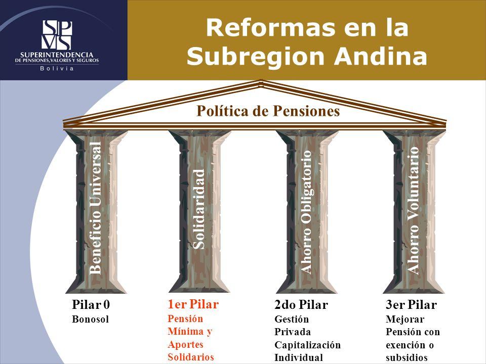 Reformas en la Subregion Andina