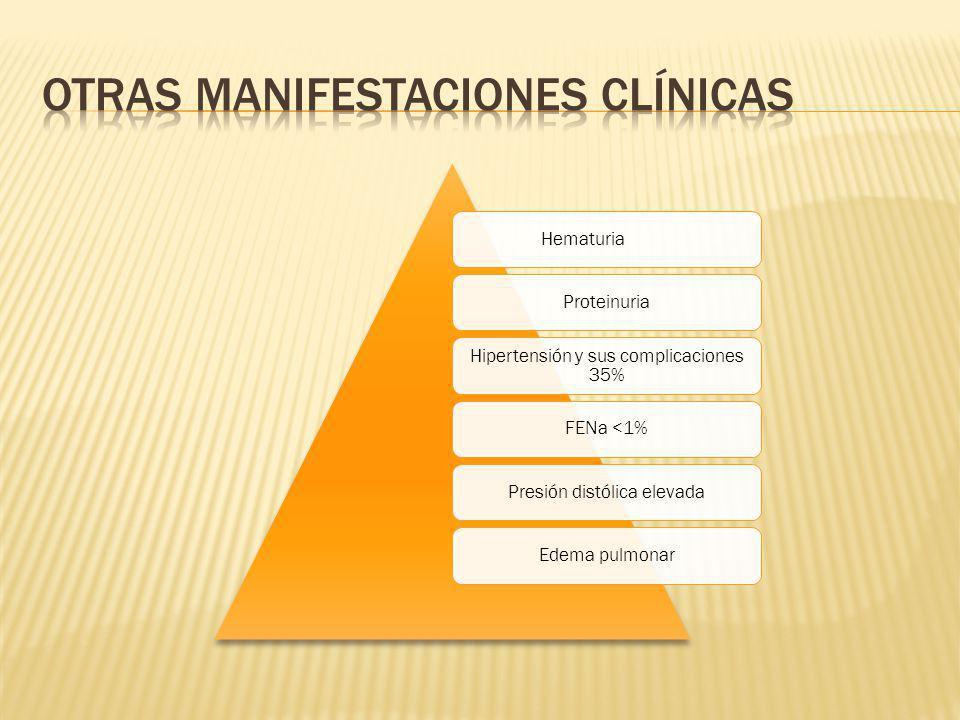 Otras manifestaciones clínicas