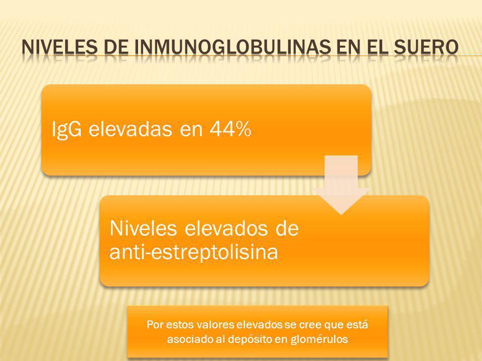 Niveles de Inmunoglobulinas en el suero