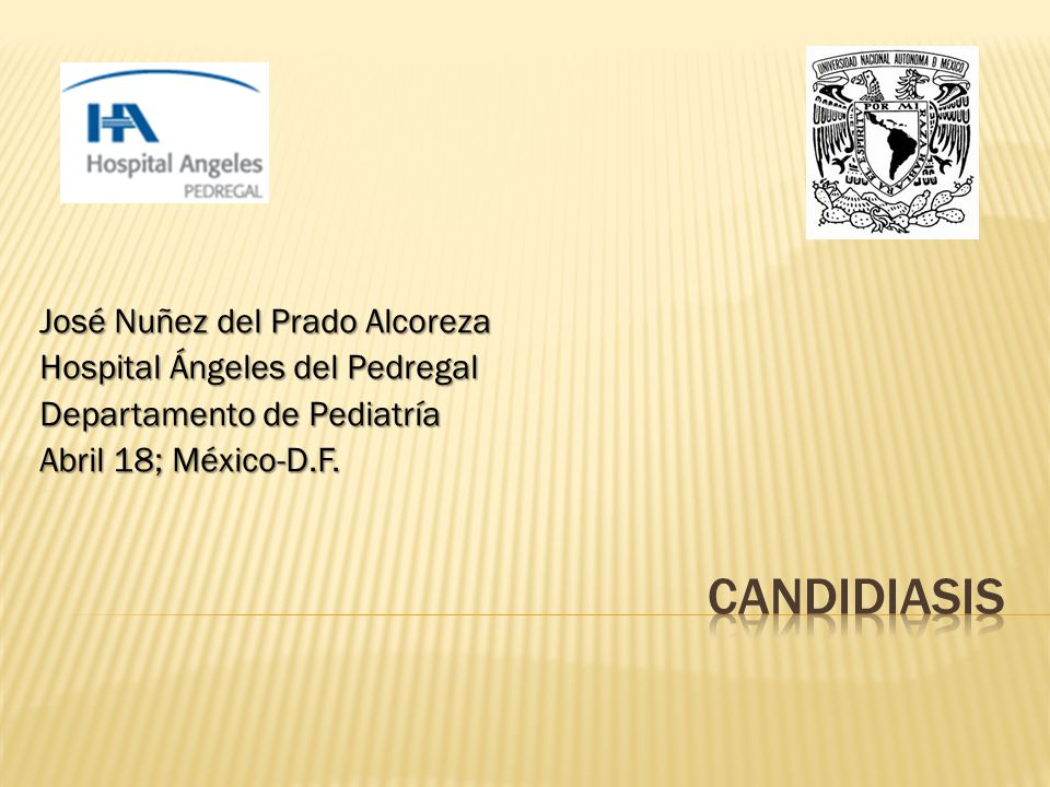 Candidiasis José Nuñez del Prado Alcoreza