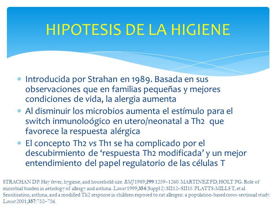 HIPOTESIS DE LA HIGIENE
