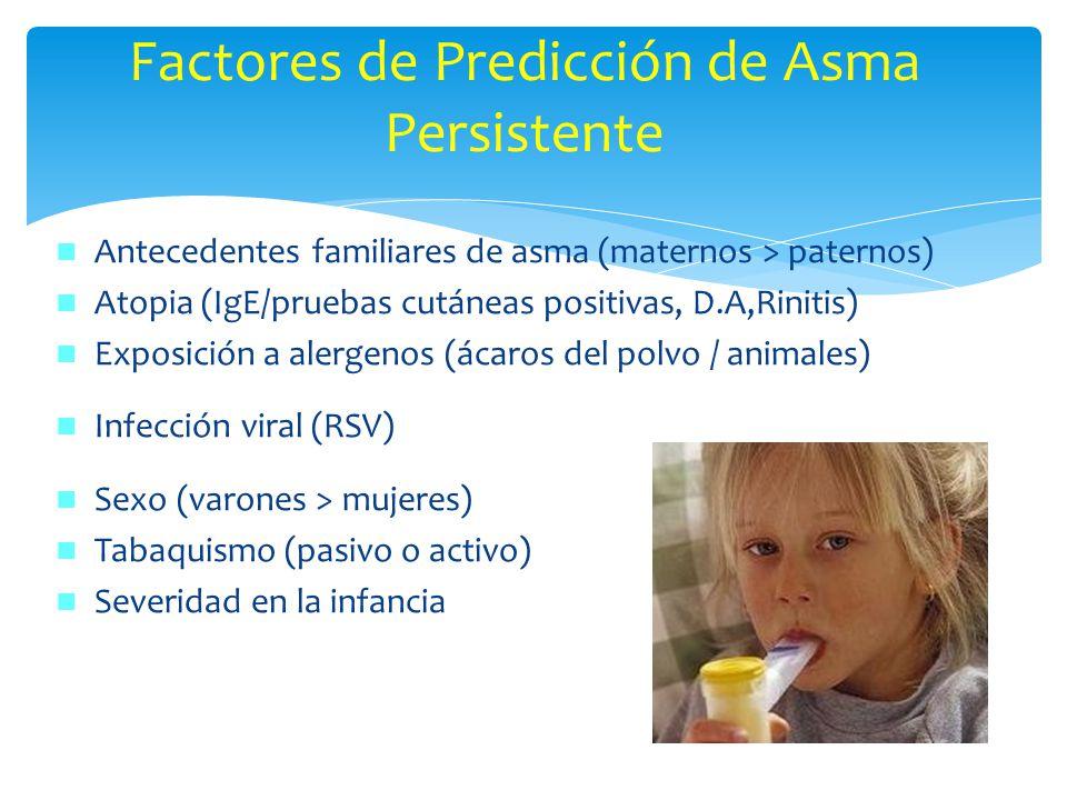 Factores de Predicción de Asma Persistente