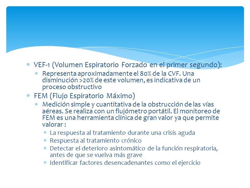 VEF-1 (Volumen Espiratorio Forzado en el primer segundo):