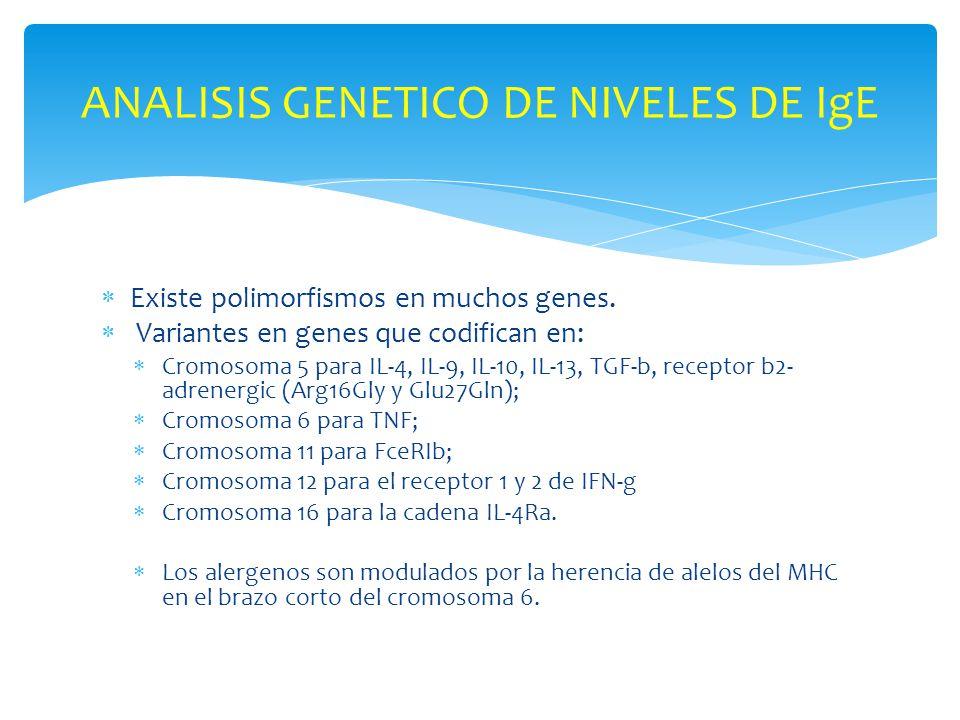 ANALISIS GENETICO DE NIVELES DE IgE