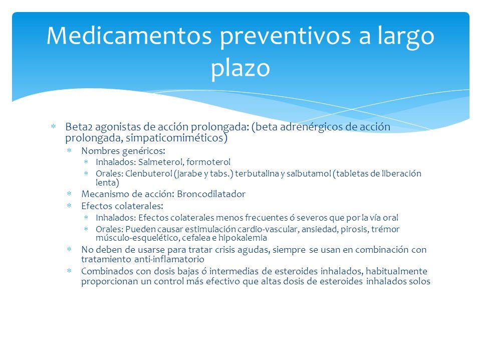 Medicamentos preventivos a largo plazo