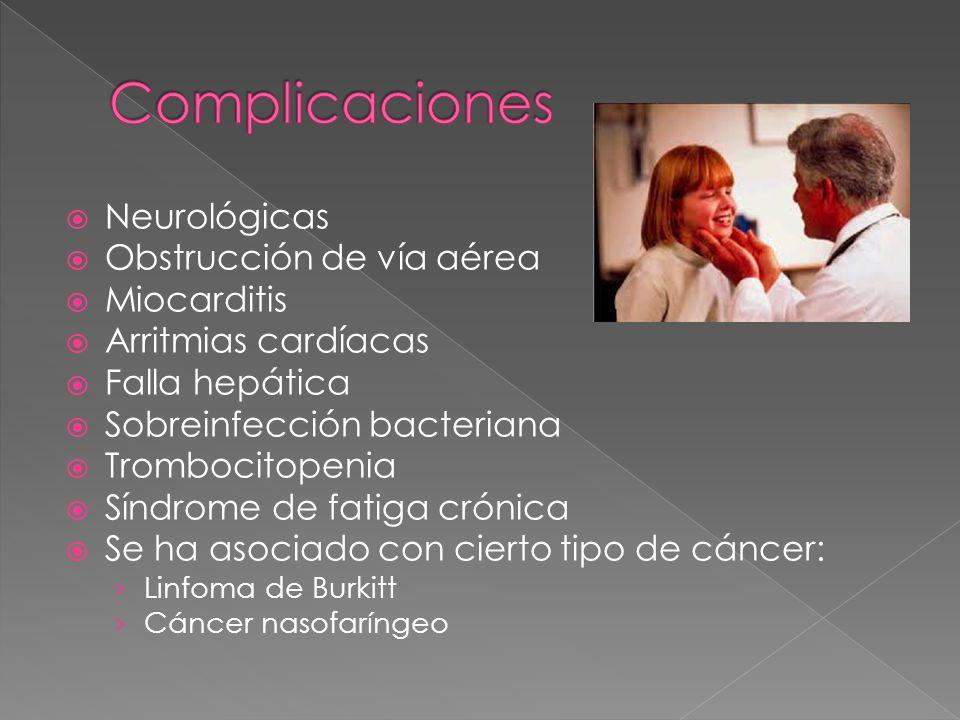 Complicaciones Neurológicas Obstrucción de vía aérea Miocarditis