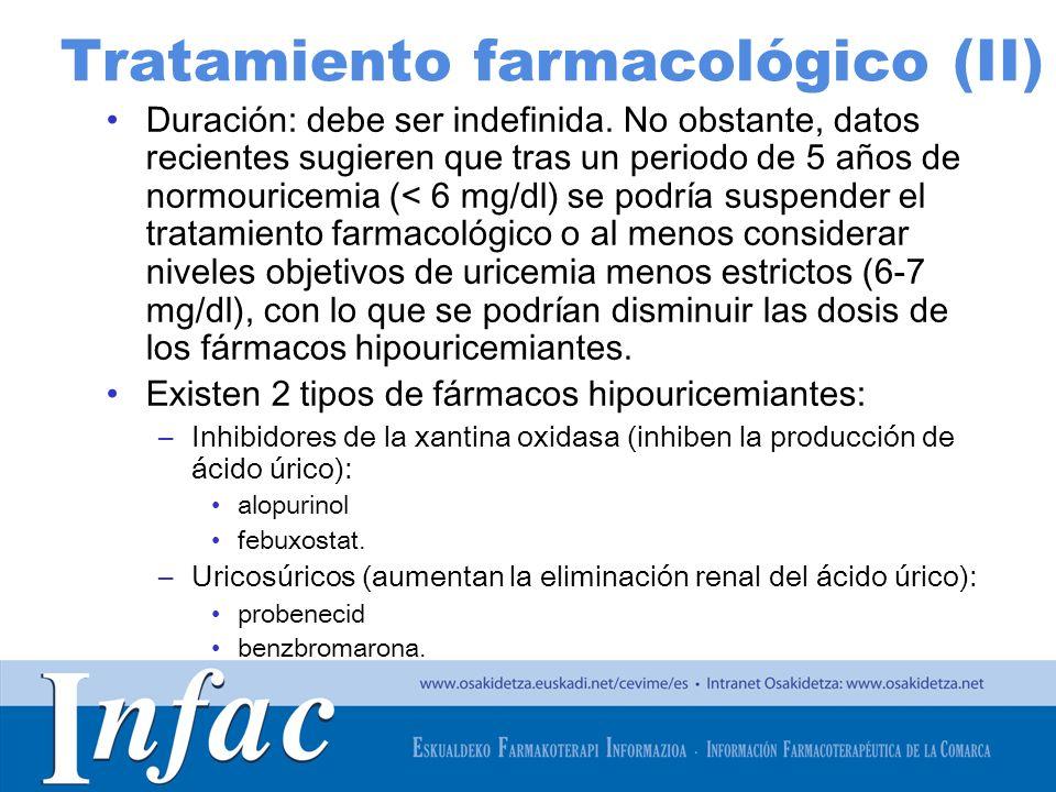Tratamiento farmacológico (II)
