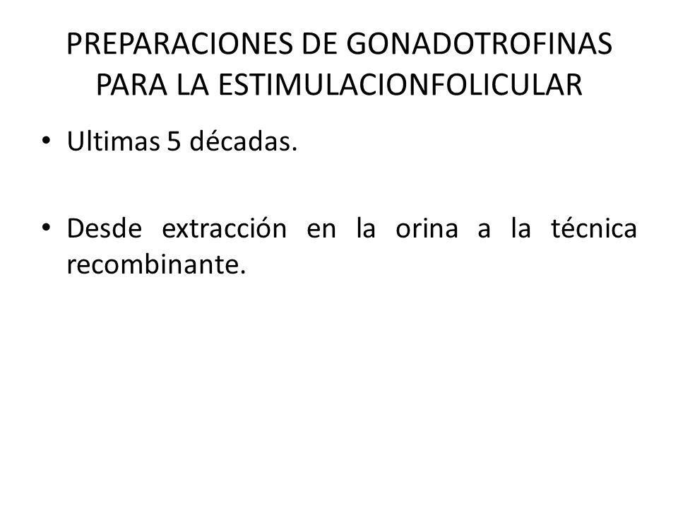 PREPARACIONES DE GONADOTROFINAS PARA LA ESTIMULACIONFOLICULAR