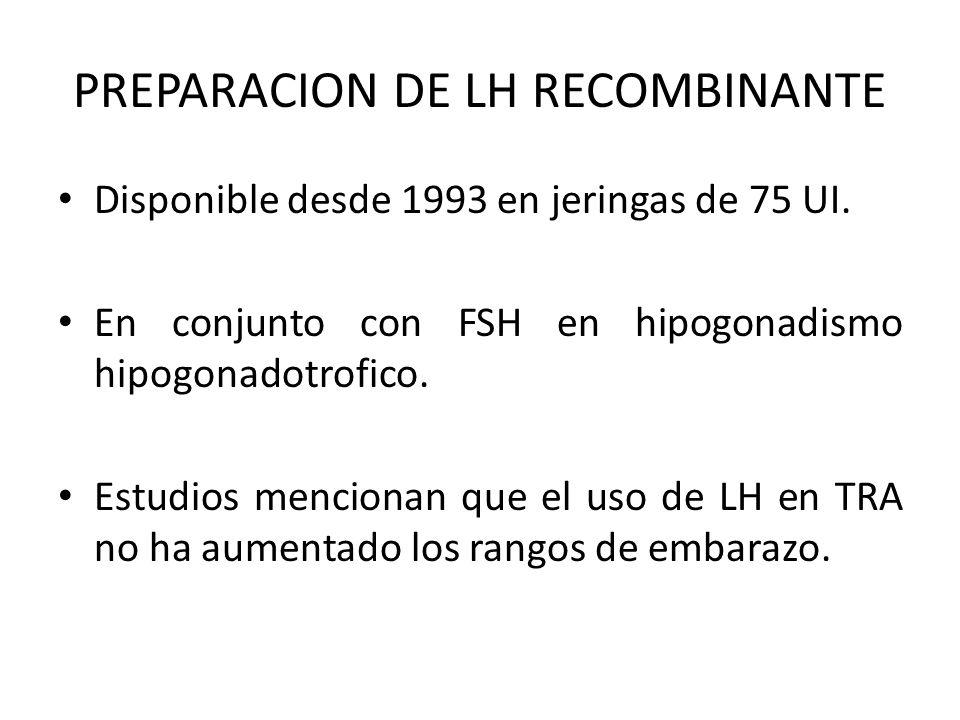 PREPARACION DE LH RECOMBINANTE