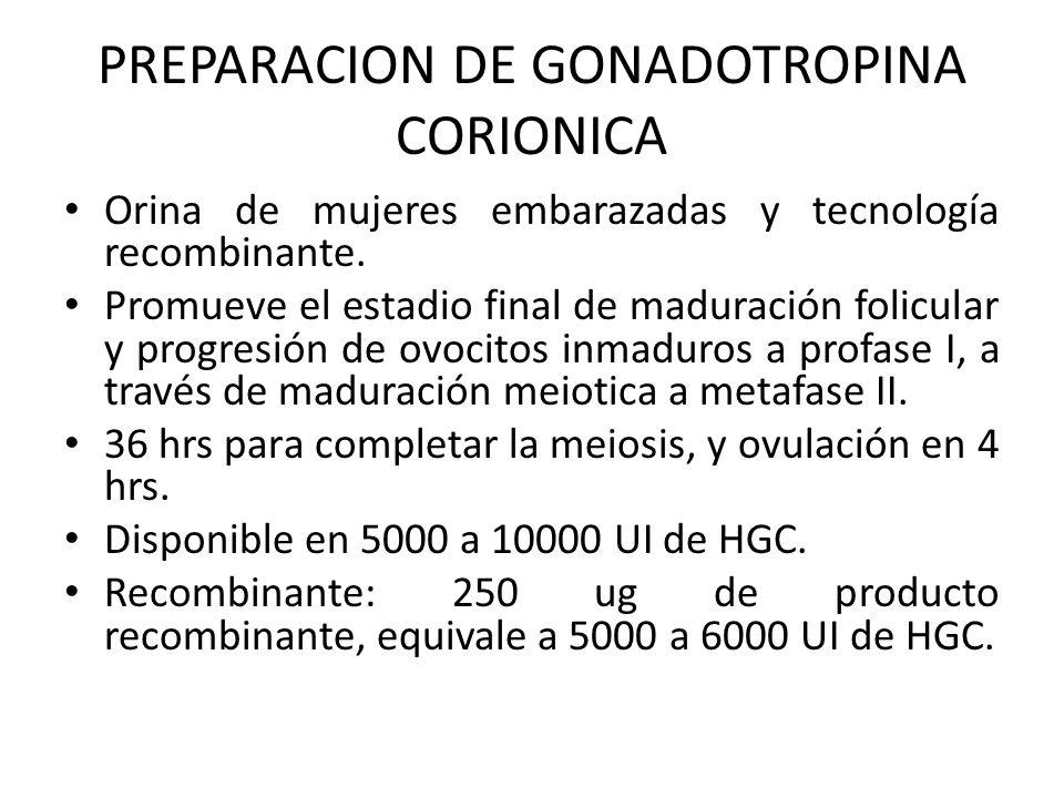 PREPARACION DE GONADOTROPINA CORIONICA