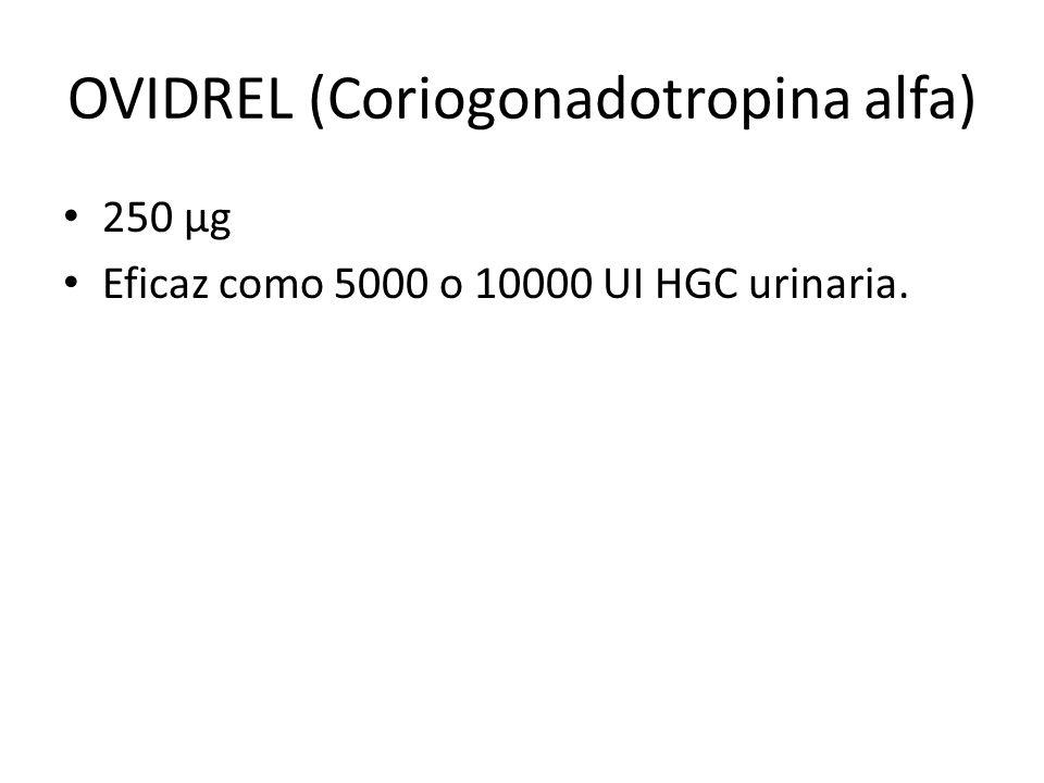 OVIDREL (Coriogonadotropina alfa)