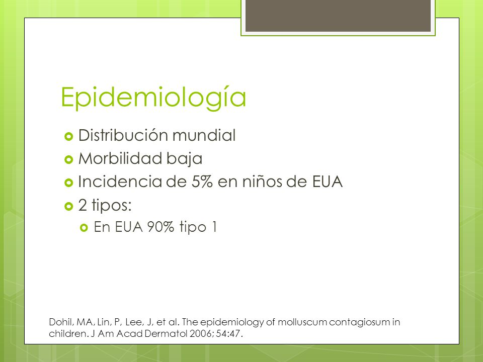 Epidemiología Distribución mundial Morbilidad baja