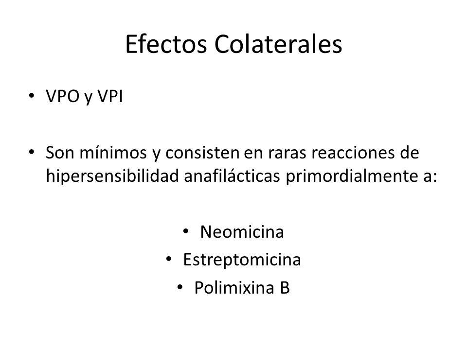 Efectos Colaterales VPO y VPI