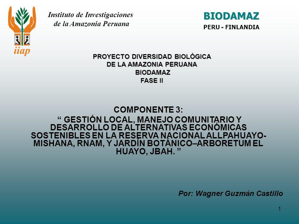PROYECTO DIVERSIDAD BIOLÓGICA DE LA AMAZONIA PERUANA BIODAMAZ FASE II