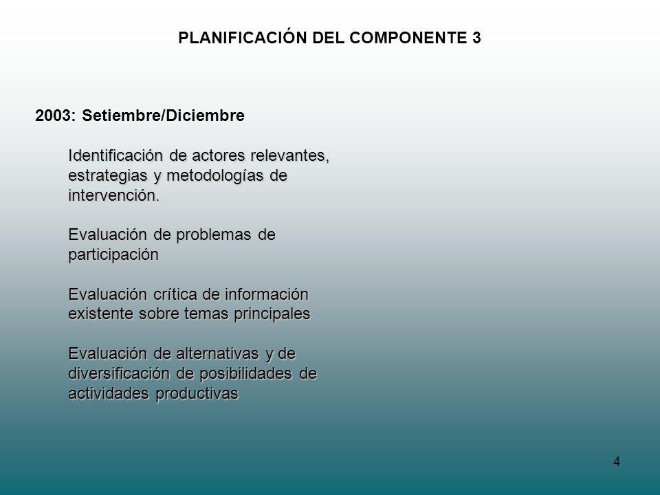 PLANIFICACIÓN DEL COMPONENTE 3