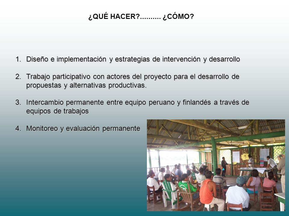 ¿QUÉ HACER .......... ¿CÓMO Diseño e implementación y estrategias de intervención y desarrollo.