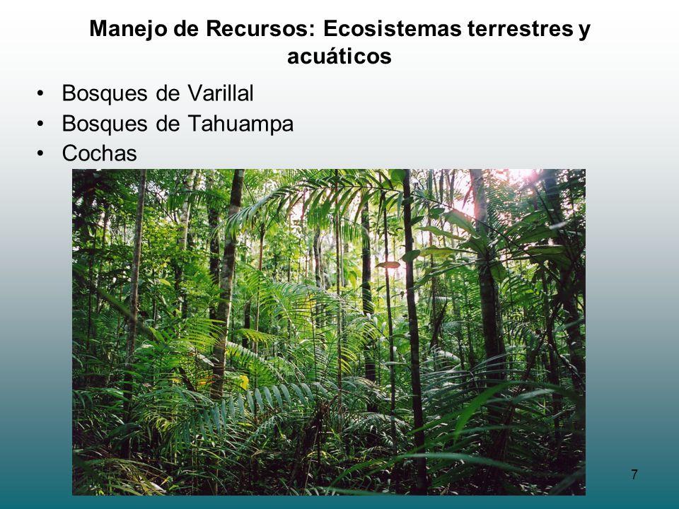 Manejo de Recursos: Ecosistemas terrestres y acuáticos