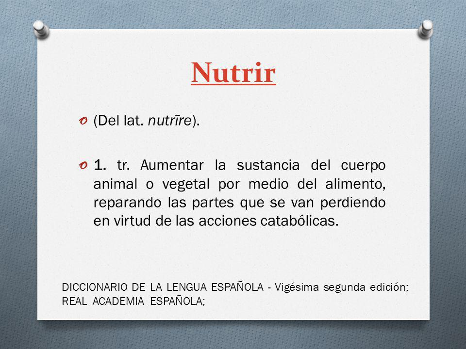 Nutrir (Del lat. nutrīre).