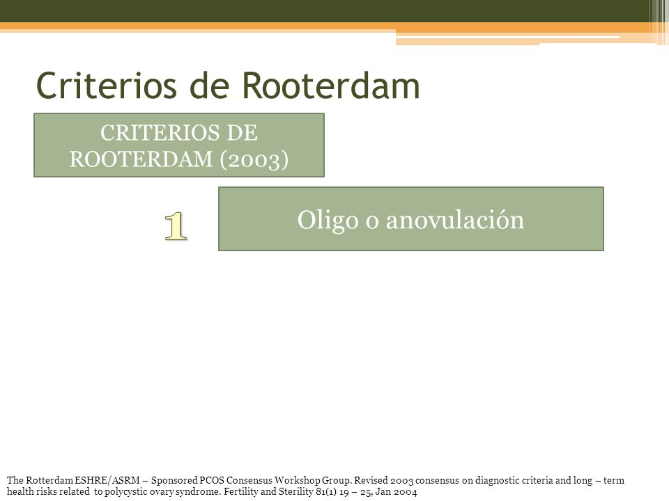 Criterios de Rooterdam