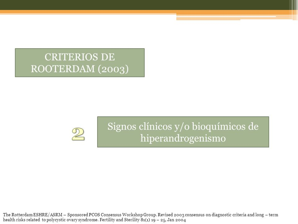 2 CRITERIOS DE ROOTERDAM (2003)