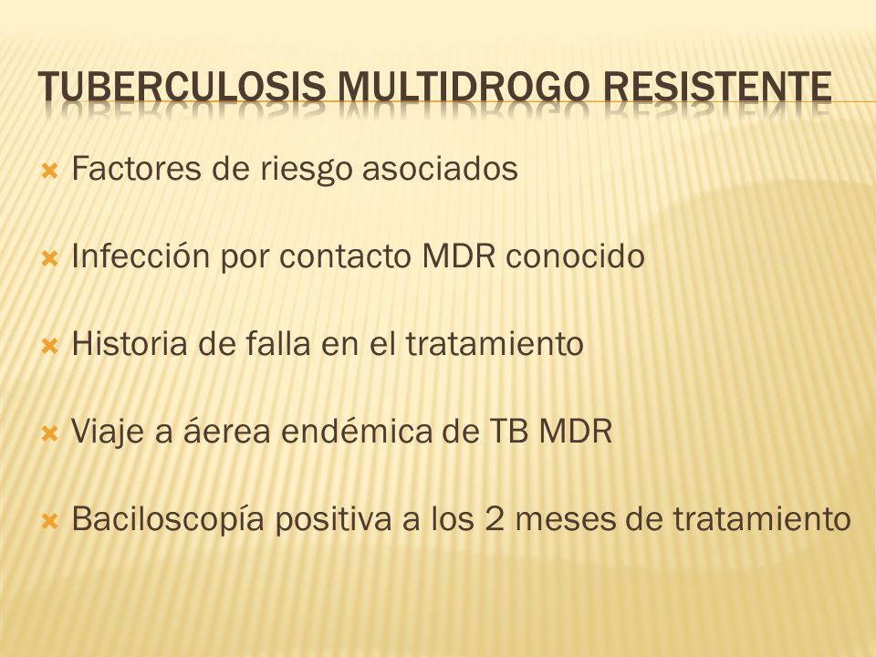 Tuberculosis multidrogo resistente