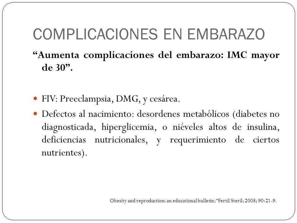 COMPLICACIONES EN EMBARAZO