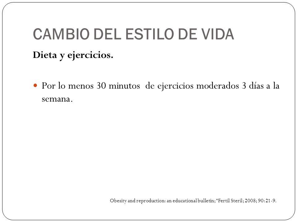 CAMBIO DEL ESTILO DE VIDA