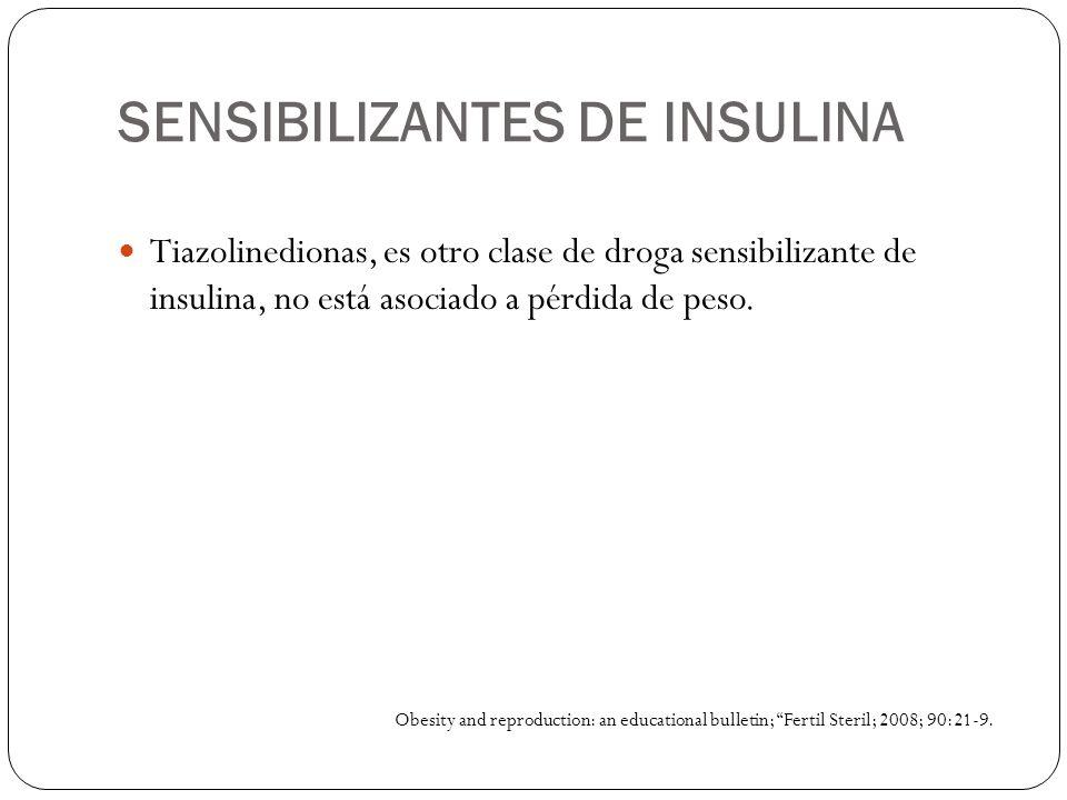 SENSIBILIZANTES DE INSULINA