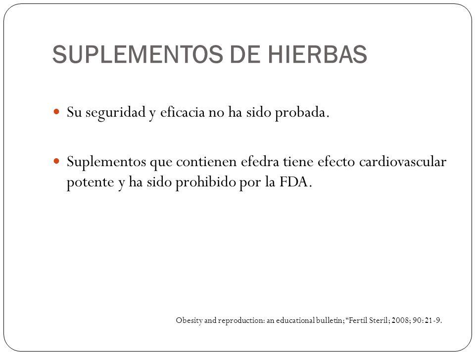SUPLEMENTOS DE HIERBAS