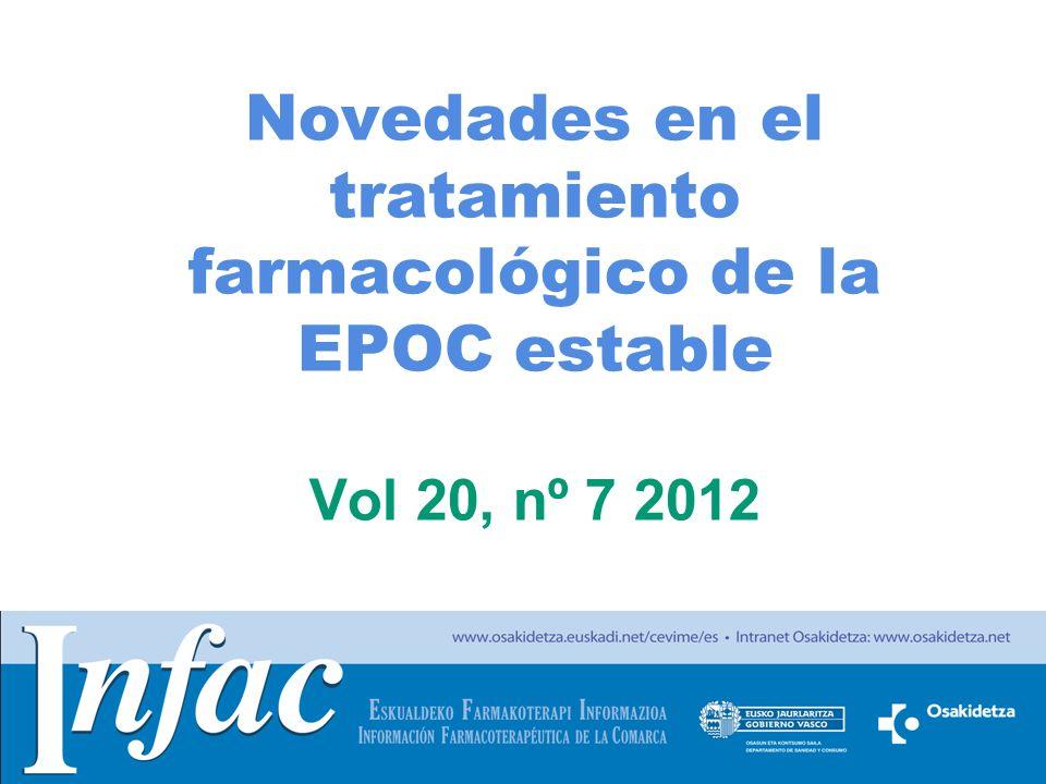 Novedades en el tratamiento farmacológico de la EPOC estable Vol 20, nº 7 2012