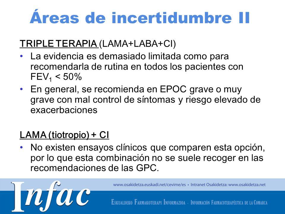 Áreas de incertidumbre II