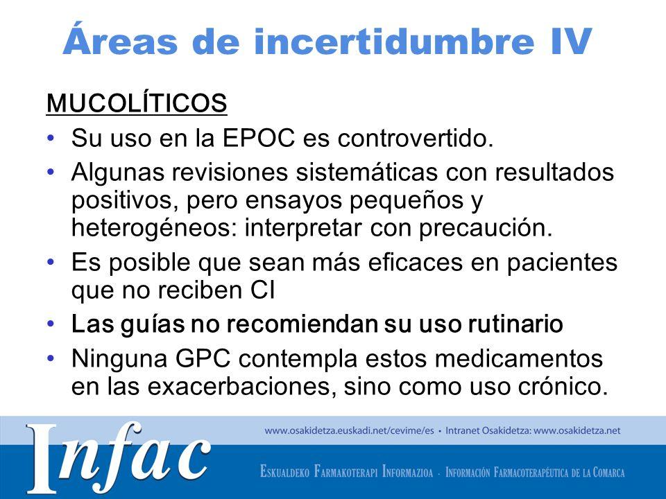 Áreas de incertidumbre IV